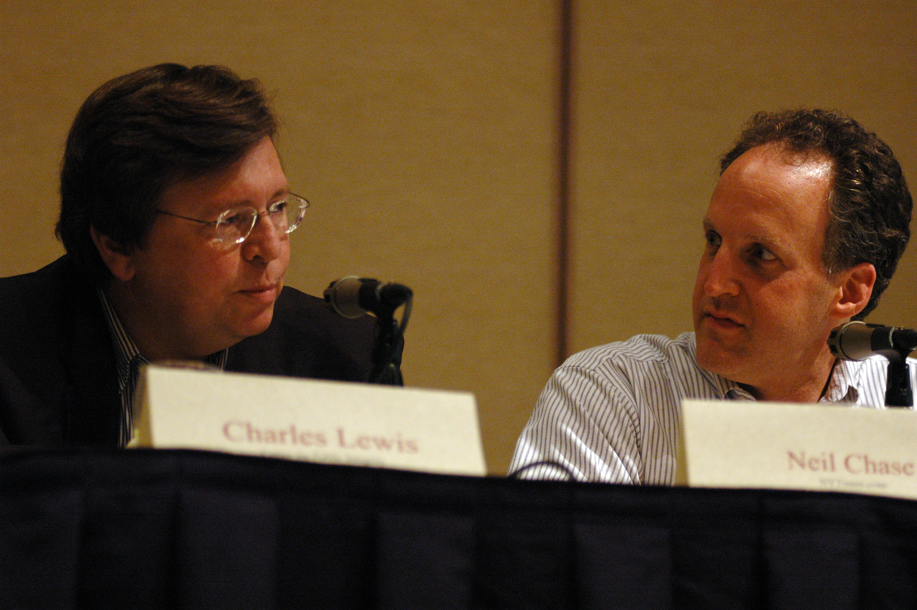 Charles Lewis and Neil Chase