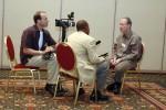 Dan Gillmor being interviewed